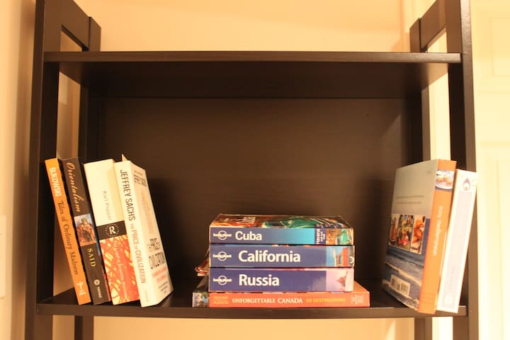 Enjoy the books during your stay :) Feel free to contribute to the library of world travelers