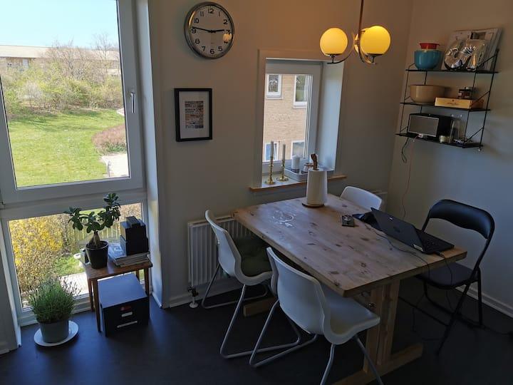 Lys lejlighed i grønt område tæt på København