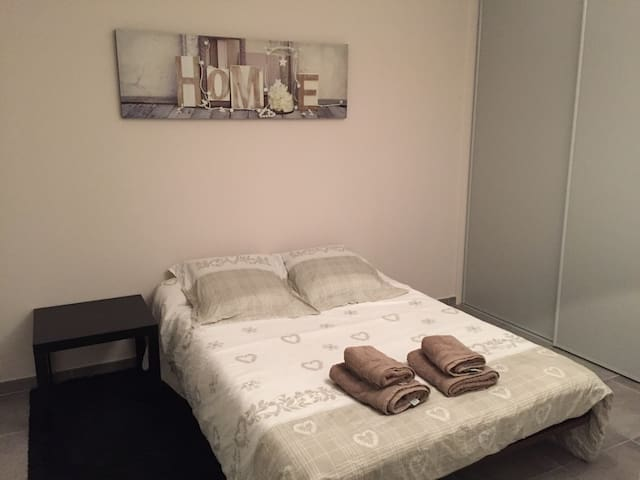 Chambre double - Saint-Paul-en-Jarez - Apartment