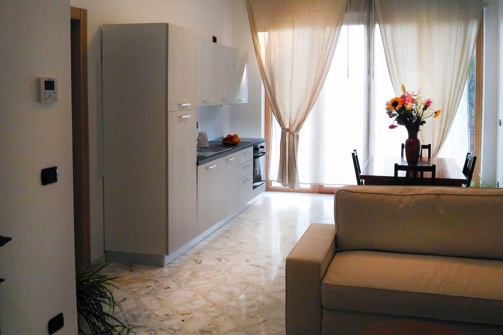 cucina, soggiorno, salotto