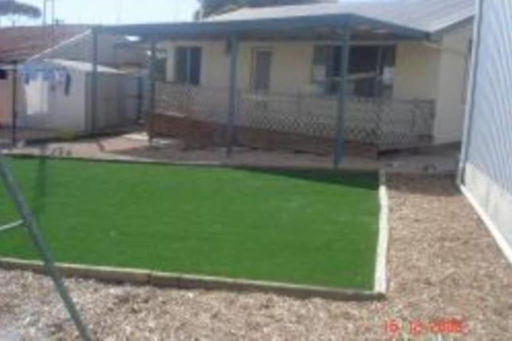 Back yard with huge play area