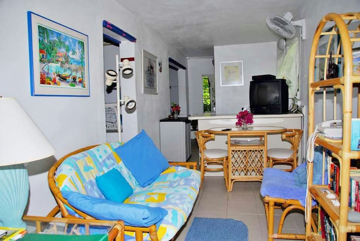 5 minute walk to Cruz Bay, Quiet Studio Apartment.
