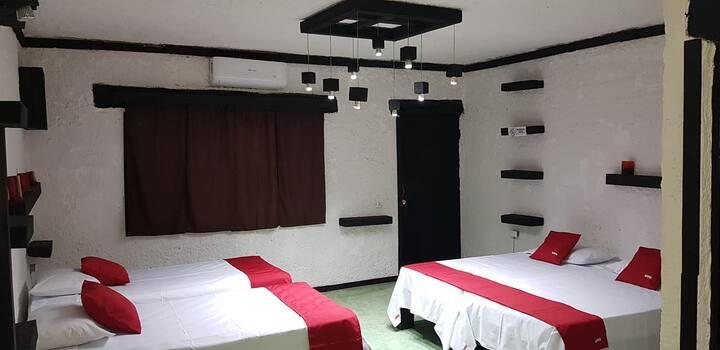 """HOTEL Hda. la Casona """"Habitación para 4"""""""