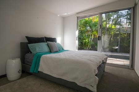 Double Bed Opening Out onto Pool - Toowong