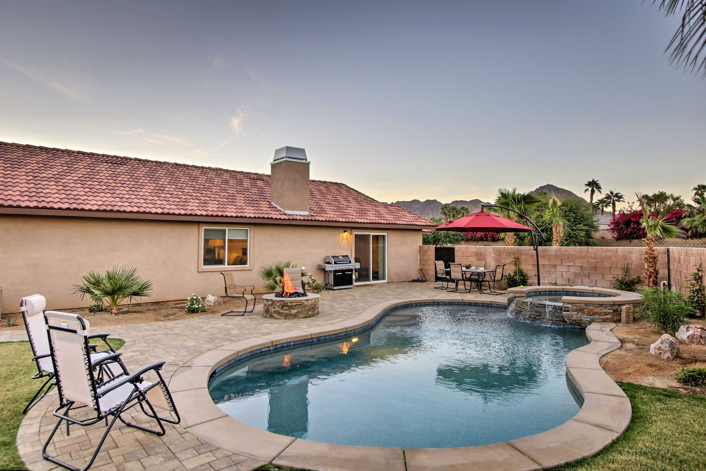 Retreat to La Quinta in this 3-bedroom, 2-bathroom vacation rental home.