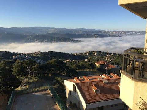 mountain view,modern, calm place