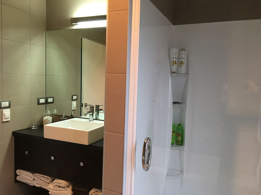 Large Bathroom, Shower and Bath