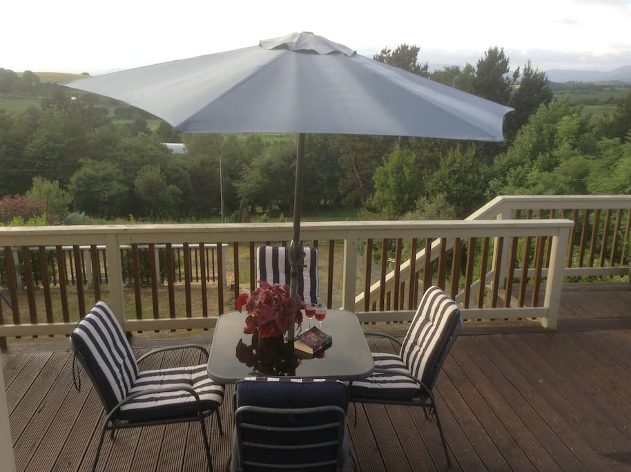 Enjoy the beautiful mountain views on the large decking area.