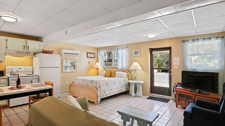 you have Planty room in this cute and roomy Studio!