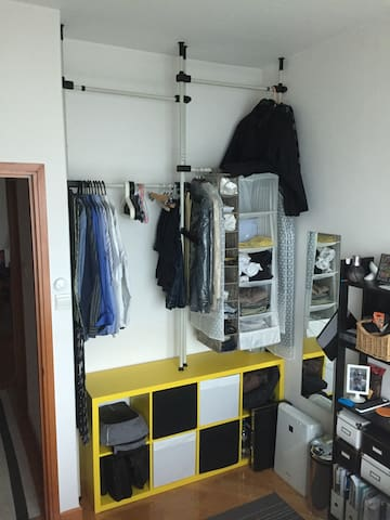 Bedroom drawers and hangers