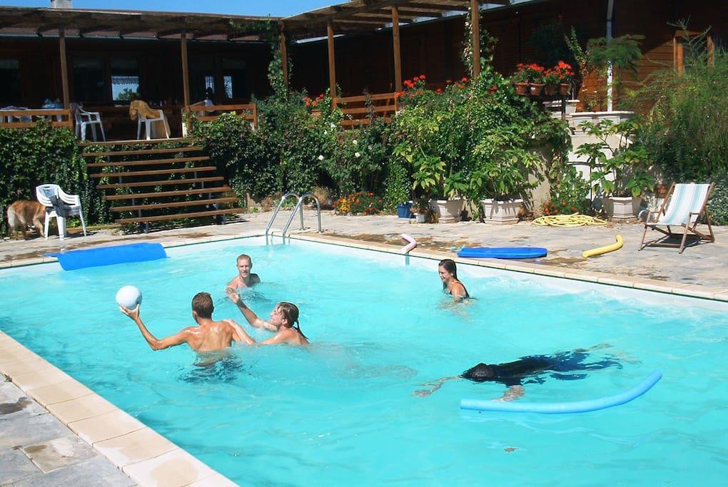 la piscine disponible en été