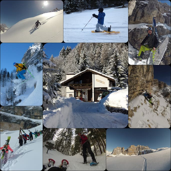 Winter experiences in Dolomites at our house!