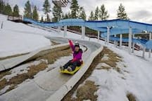 Luge sliders at Alpine Slide at Magic Mountain is 0.3 mile from the cabin.