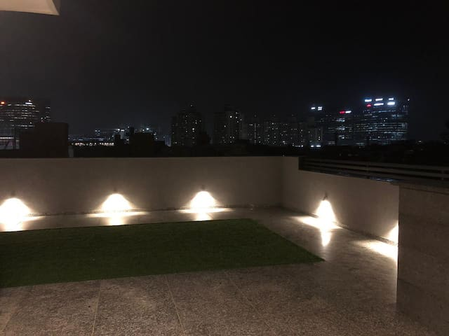 Terrace with Cyber City View
