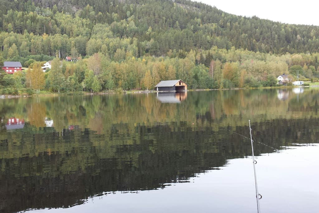 Private beach and boathouse, with several boats. Fishing and hunting rights. Fantastic trout fishing! Guided tours.