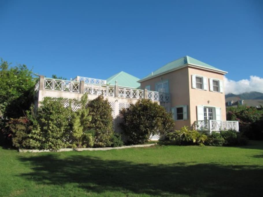 Rear of house and swimming pool