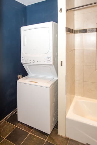 Laundry (and supplies) included - great for a longer term rental