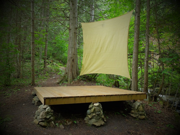 Sproule Creek tent pad #1