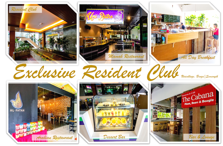 Lifestyle centre with restaurants, food stall, cafeteria, grocery mart and bar