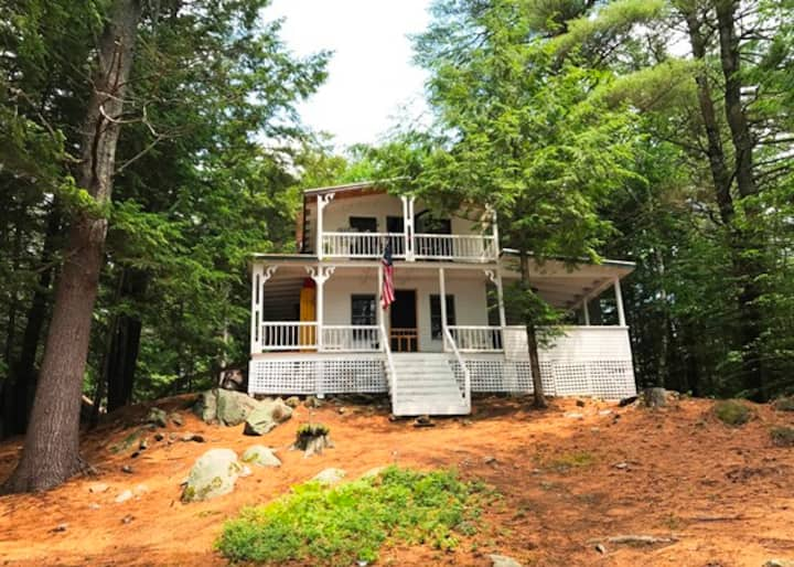 Newfound Lake NH Historic Waterfront Cottage House