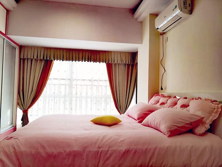 常德沅江边诗墙公园附近临步行街水星楼精装一室公寓