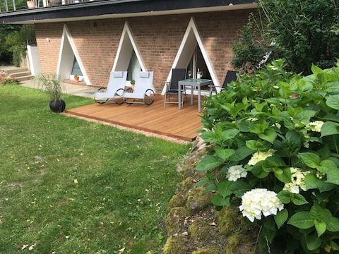 Ferienwohnung Triangel mit Terrasse und Sauna