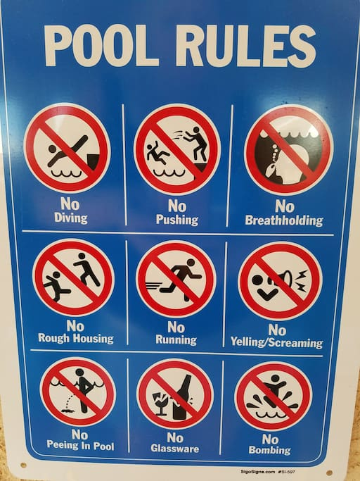 please read and follow pool rules