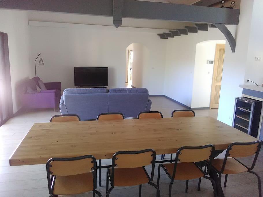Séjour-salon Table contemporaine 8-10 personnes