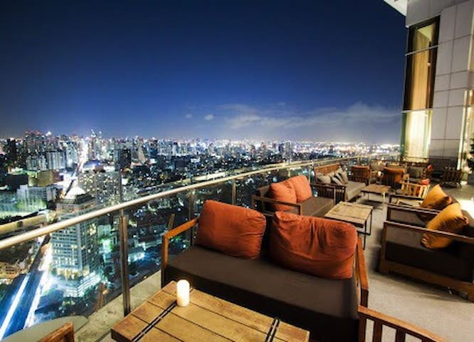 Sky Bar+Night market+2min to BTS 中文 - 曼谷 - Daire