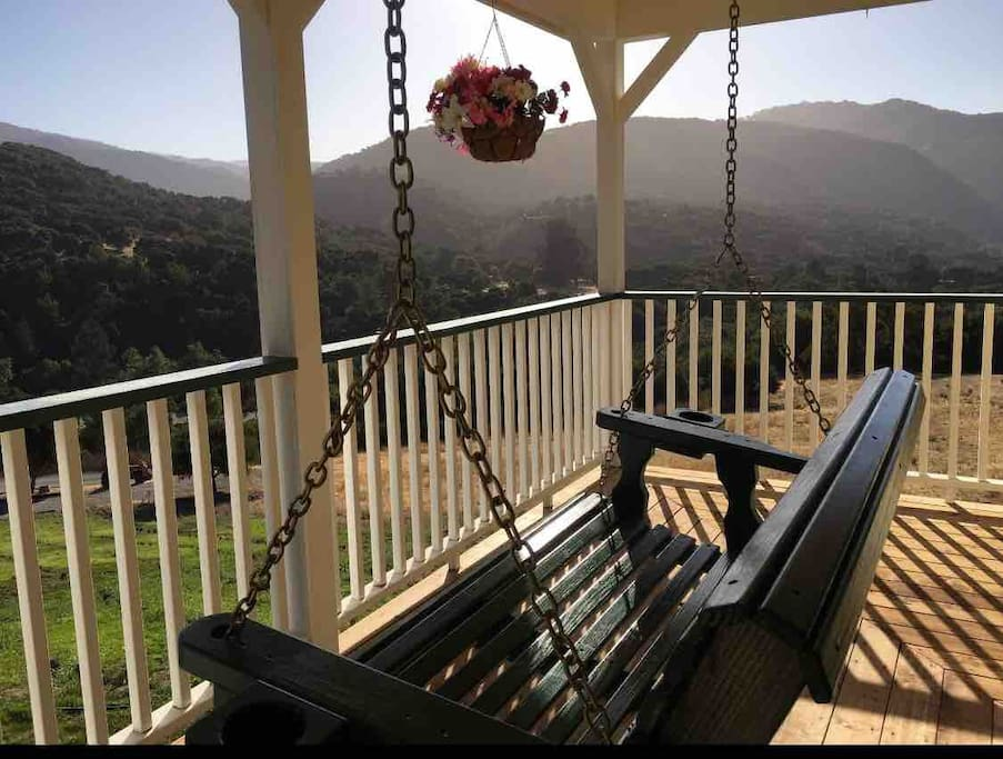 Relax on the front porch swing and admire the view of the Santa Lucia Mountains. It's a great spot to observe many types of birds and wildlife.