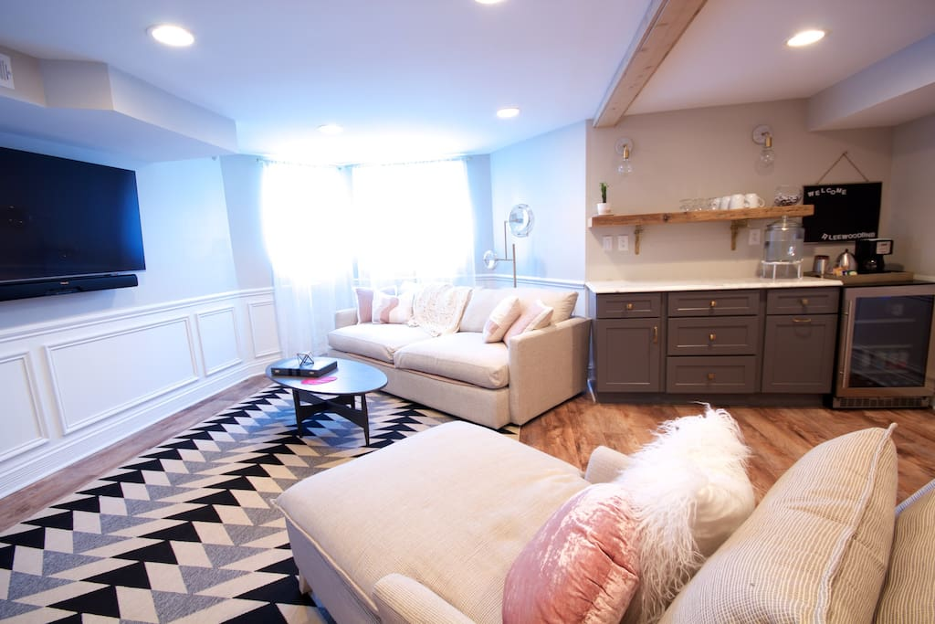 """Living Space with 55"""" TV"""