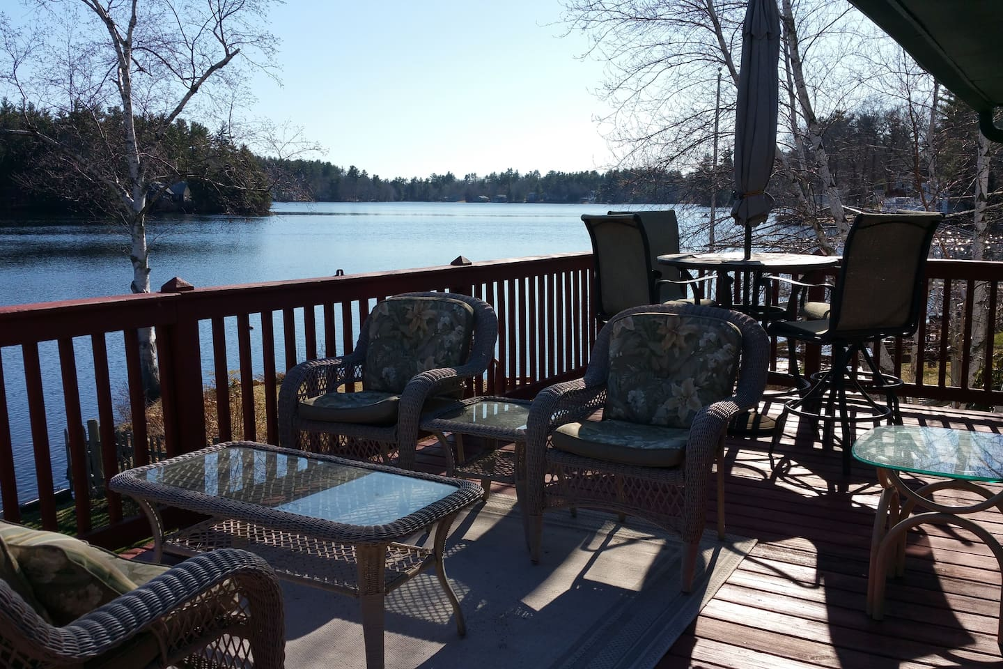 Relax on your deck overlooking the pristine lake