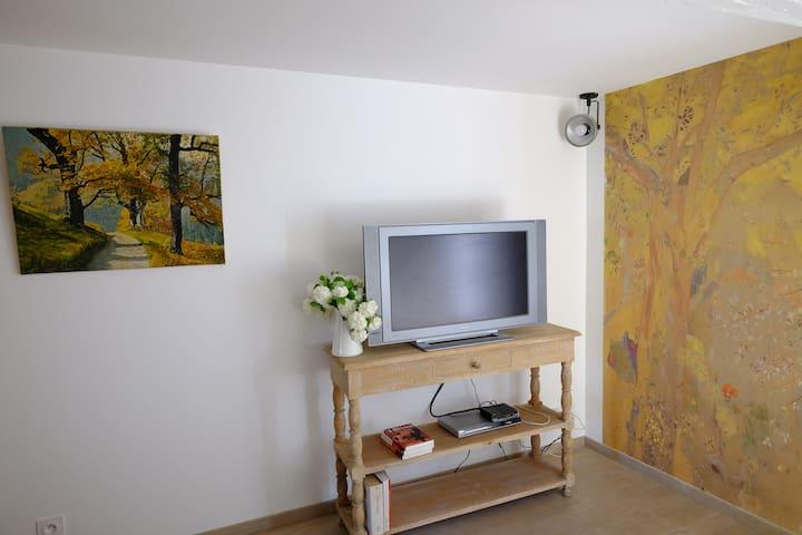 charmante chambre dans maison plein centre village - Noyers - House