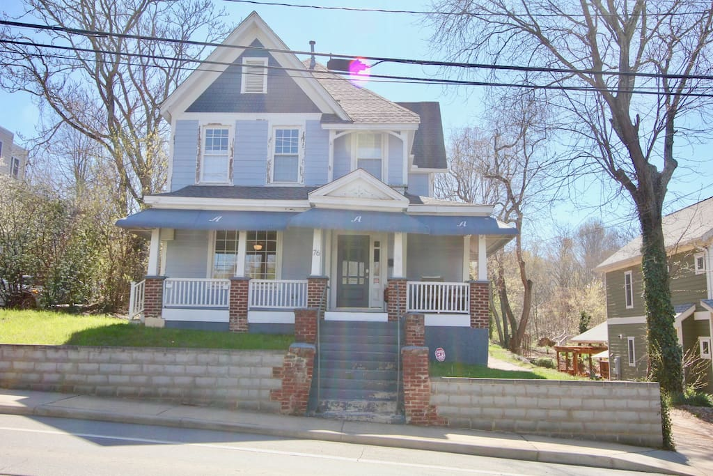 We have not renovated the outside of our house yet! Plans are in the works! It is a Queen Anne Victorian built in 1897.