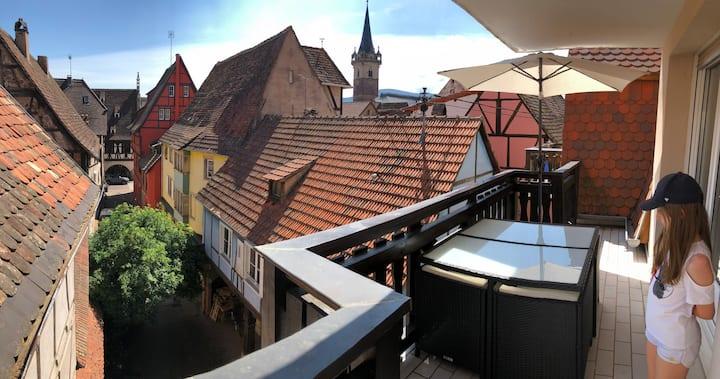 Very nice flat in Obernai downtown