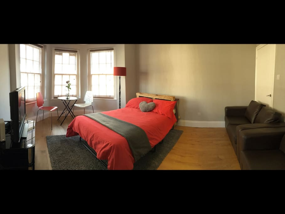 Panoramic view of Master Bedroom.