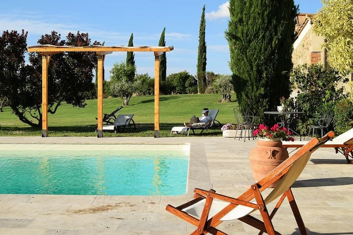 Agriturismo Lunadoro: apartament with pool Pienza