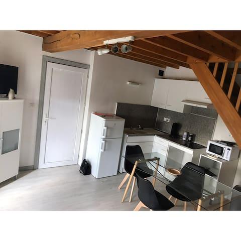 Studio avec mezzanine