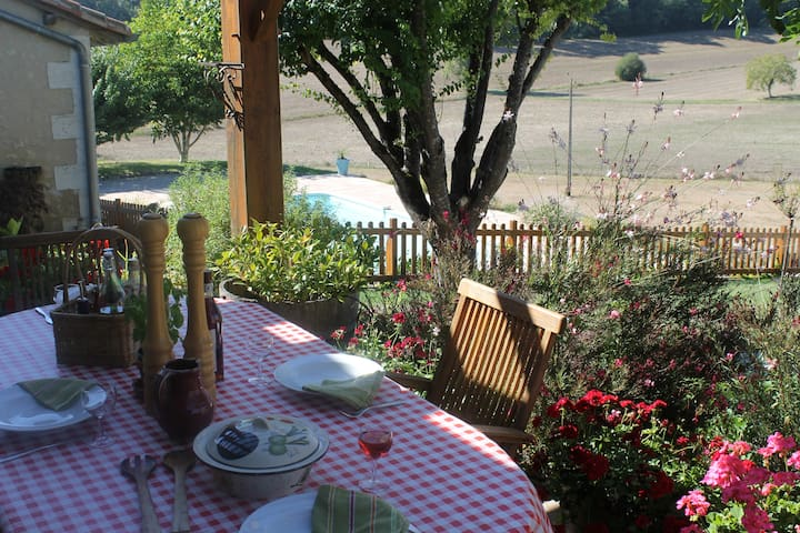 Patio off kitchen to enjoy your breakfast or simply chill out
