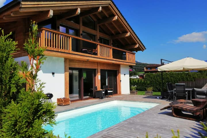 Deluxe Chalet in Neukirchen with Pool & Panoramic Views