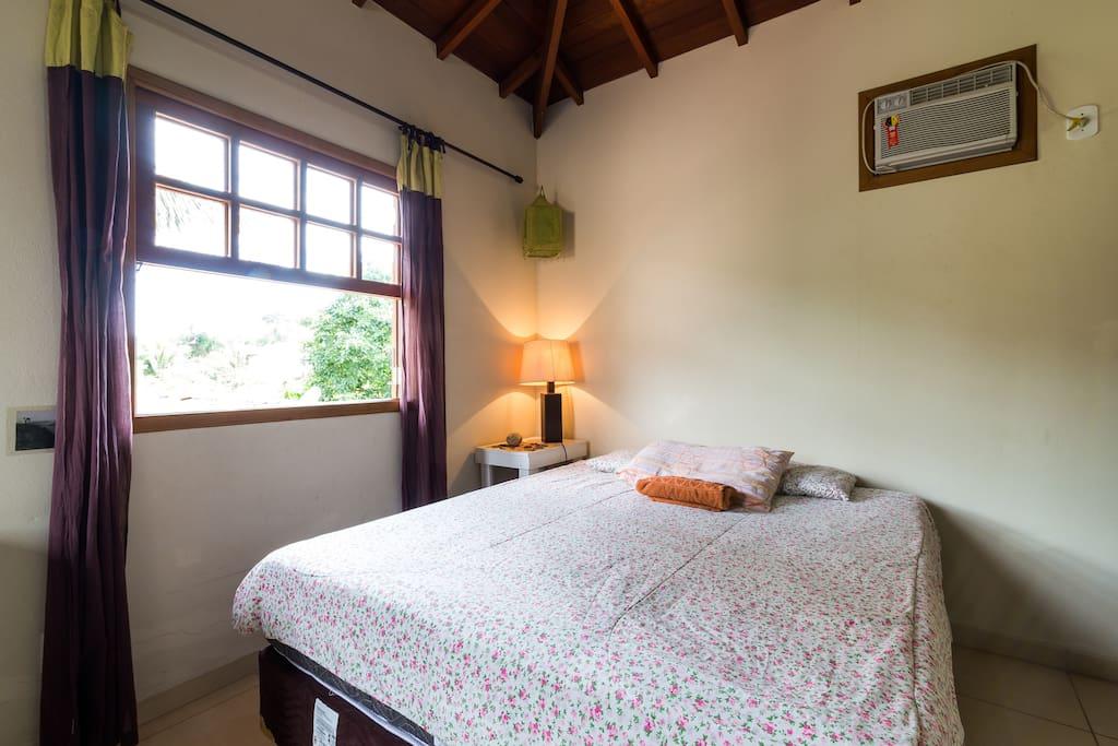 dormitório primeiro andar, cama casal, colchão Exclusive Ortobom