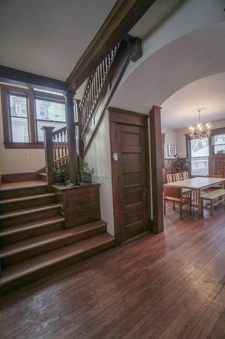 Stairway to second floor bedrooms