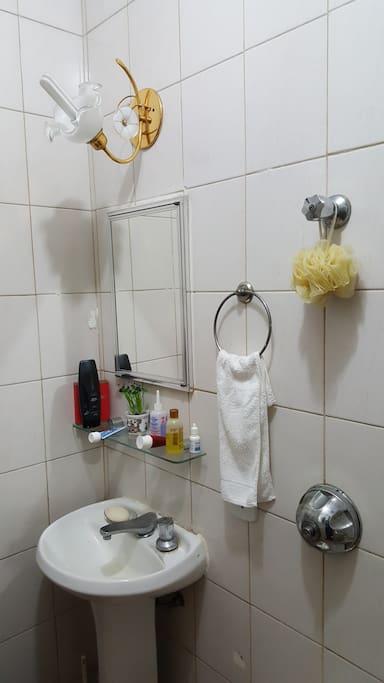 Parte de vista do Banheiro