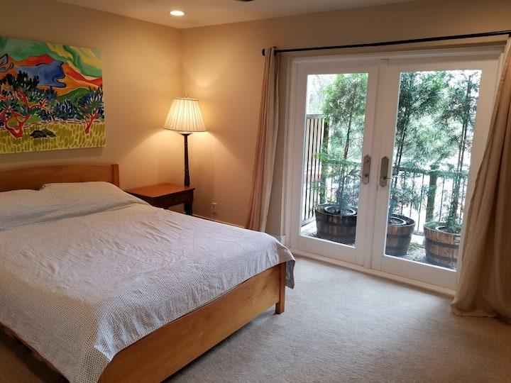 Spacious room on separate floor, bathroom & patio