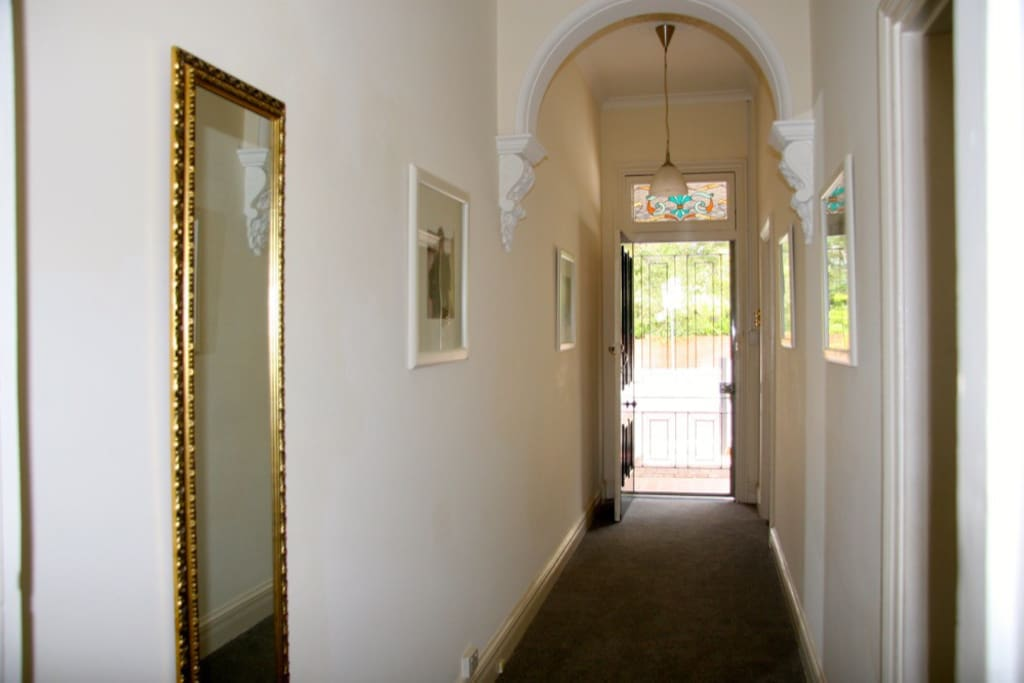 Hallway leading from the front door to the living area