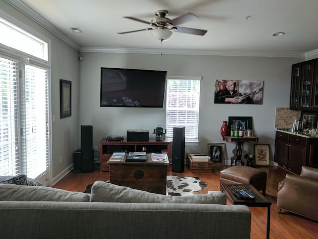 """60"""" HDTV with High End Home Theater System"""