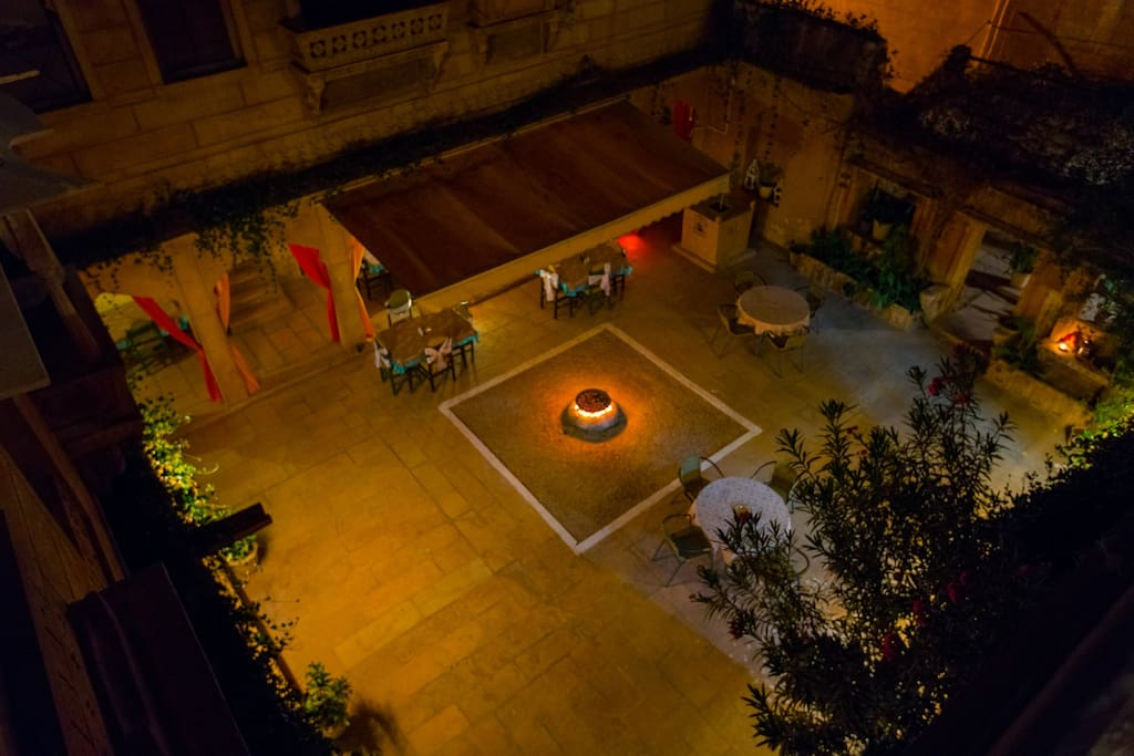 The View of the Courtyard from the Rooftop!
