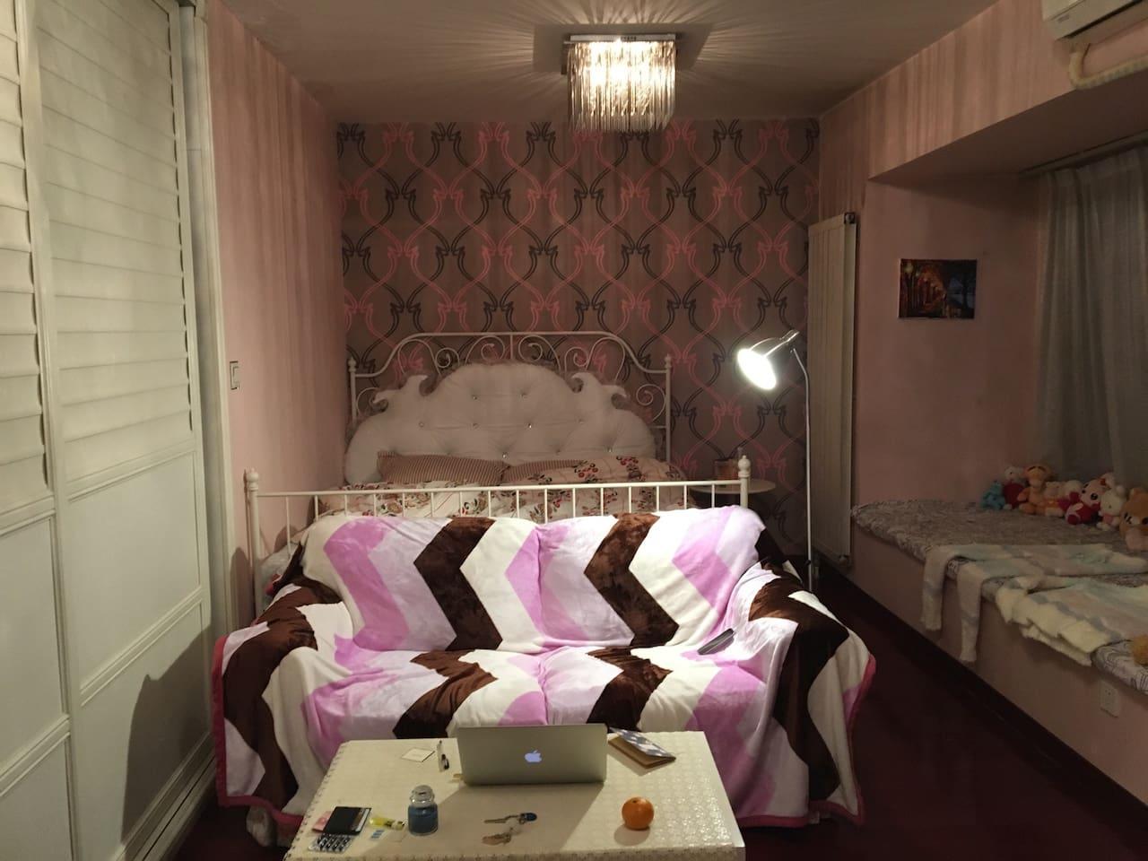 二环中心地带!温馨公主房 欧式设计精美开间 仅限女生入住
