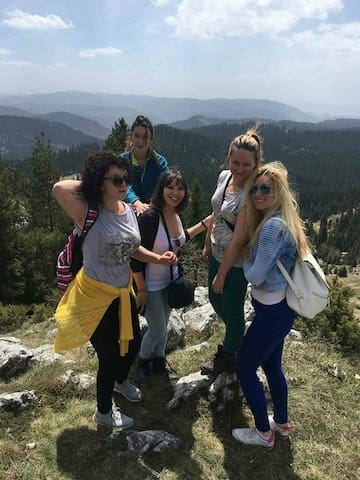 My beautiful guests on the top of the Zlatar mountain