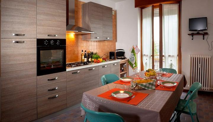 2 bedrooms apartment in Langhe